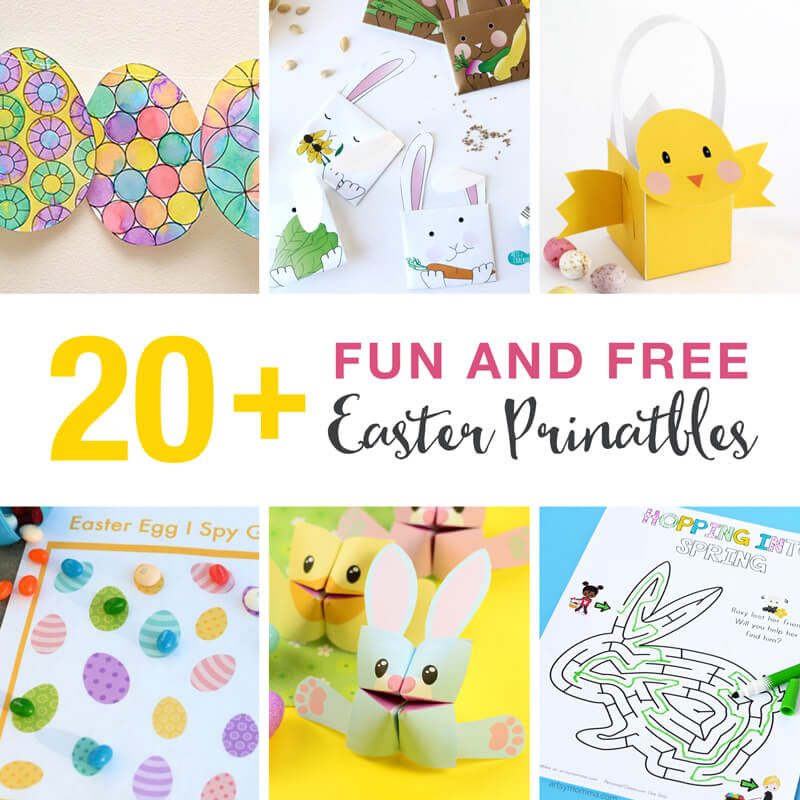 20+ fun and free Easter printables for kids