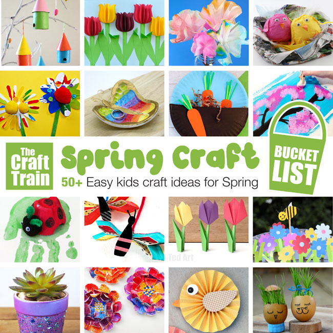 Learn more about fun and easy paper art crafts for kids. Spring Crafts For Kids The Craft Train