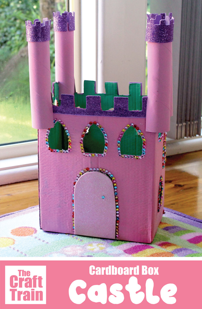Cardboard Castle Craft For Kids The Craft Train