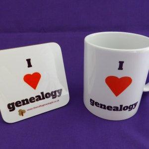 I love genealogy mug and coaster gift set