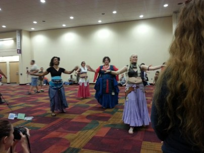 The dancers of the Different Drummer Belly Dancers troupe!