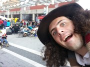 Photobombed by the Fourth Doctor?