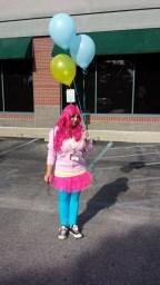 Pinkie Pie and balloons.