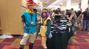 Chrono and Lucca, from Chrono Trigger!