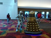A Cyberman and a Dalek!