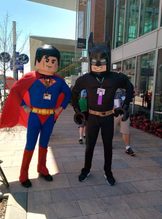 Lego Superman and Batman, who were definitely a hit at the con.