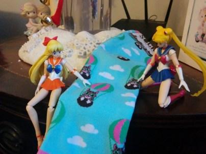 Sailor Venus and Sailor Moon really like the Bub socks.