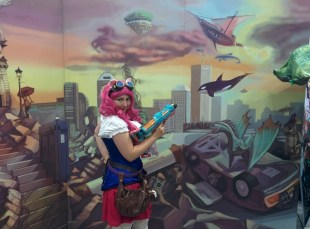 Indiana University - Purdue University of Indianapolis' School of Informatics & Computing did an AWESOME cosplay photo wall!