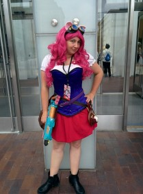 Steampunk Pinkie Pie, which turned out pretty well for a costume I threw together in a week...