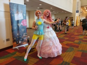 Pearl and Rose! I love that they got into a fusion dance pose for this picture.