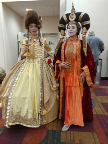 A very elegant Belle and Queen Amidala.