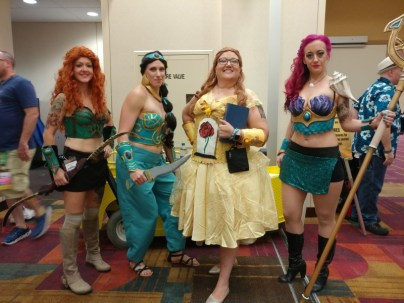 Disney princesses, ready for battle.
