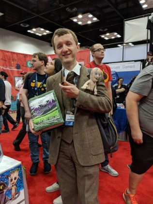 This J.R.R. Tolkien cosplayer made me smile - especially with the Gollum in his pocket.