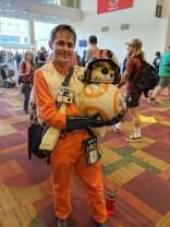 Poe and BB-8! I love BB-8's helmet. :)