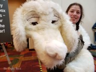 This Falcor was made completely by hand - and he could even blink!