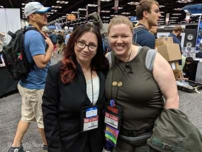 At least I wasn't alone in my Battlestar Galactica cosplaying - and I'm glad Lizz found me before I ditched my costume, haha.