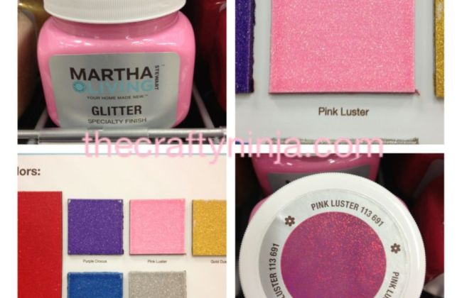 Martha Stewart Pink Luster Glitter Paint