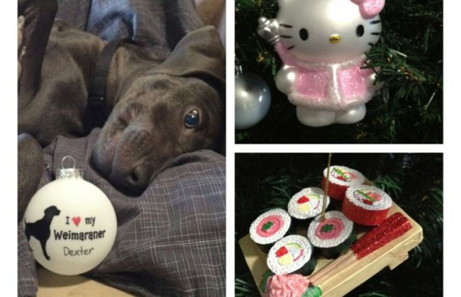 Personalized ornament, Hello Kitty Ornament, Sushi Ornament
