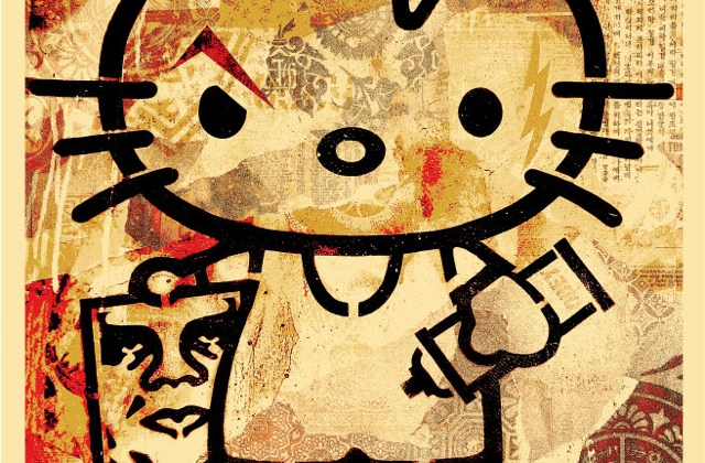 Obey Hello Kitty by Shepard Fairey