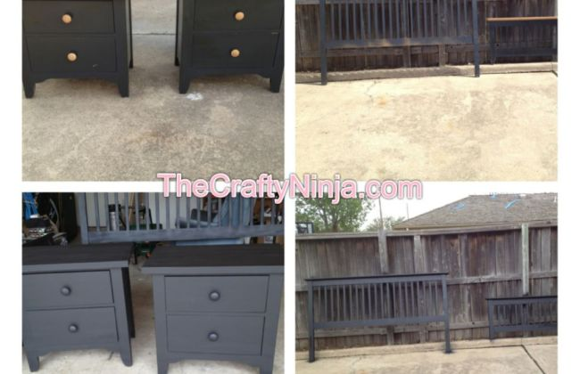 before after spray paint furniture