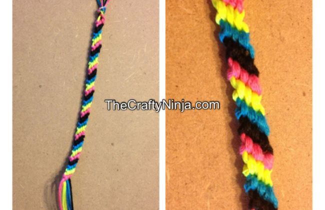 candy strip friendship bracelet