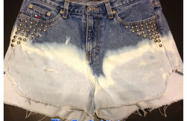 diy ombre studded jeans