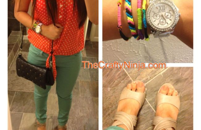 mint coral arm candy