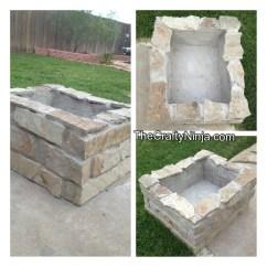 Diy Sofa Repair All Weather Rattan Corner Stone Fire Pit | The Crafty Ninja