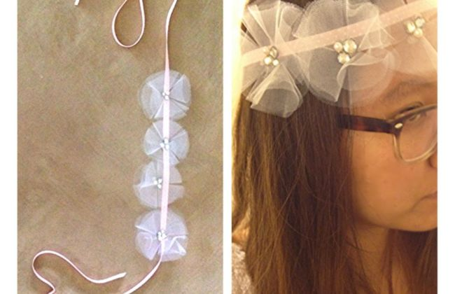 tulle flower crown diy