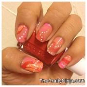 water marbling nails crafty