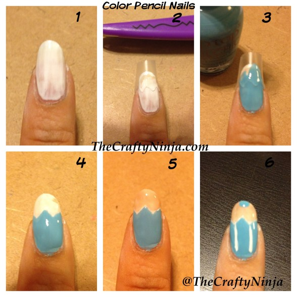 color pencil nails diy