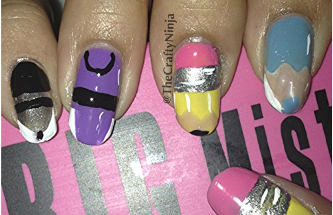 diy back to school nails