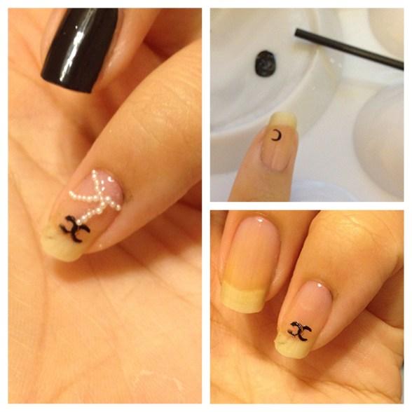 diy chanel nail