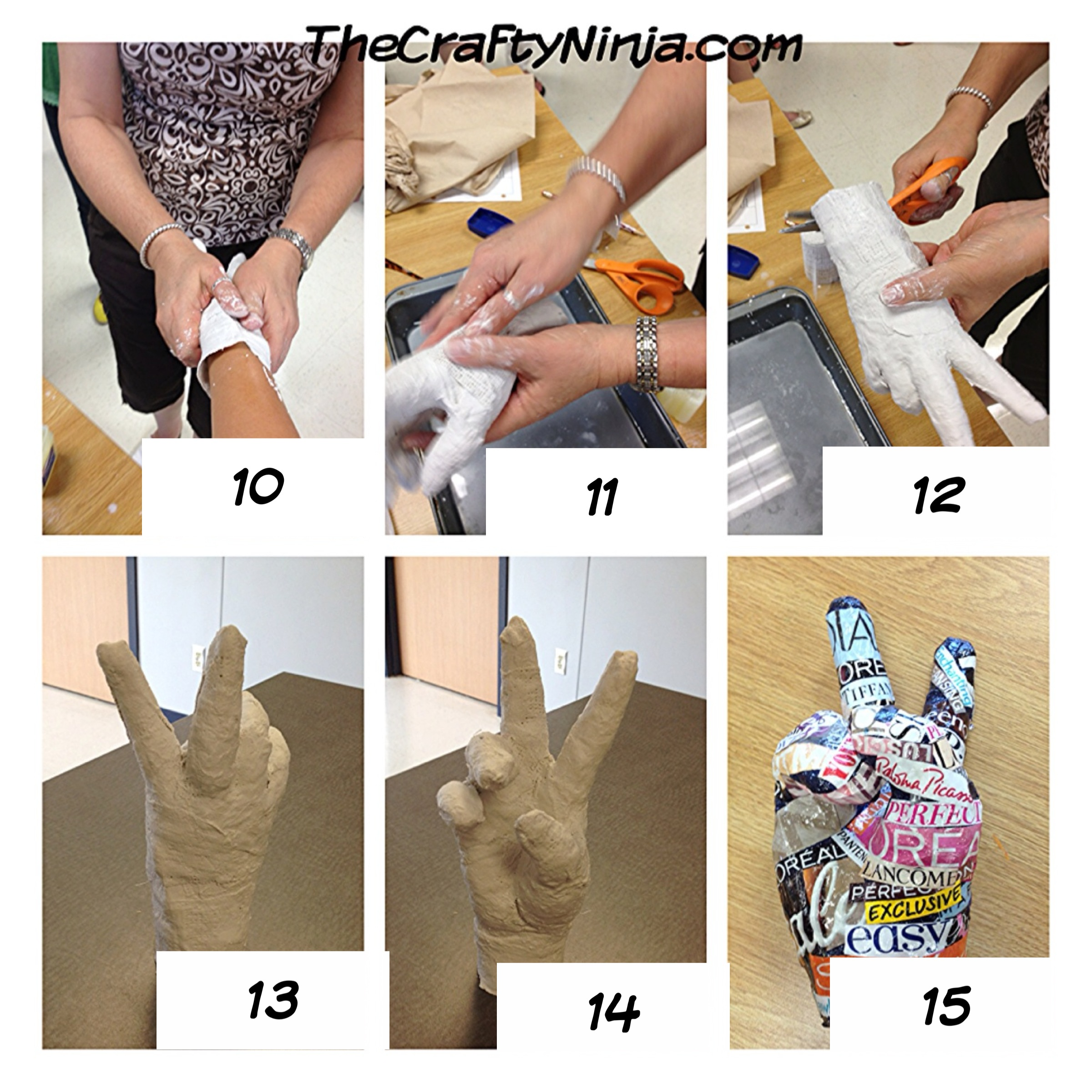 Plaster Hand Project | The Crafty Ninja