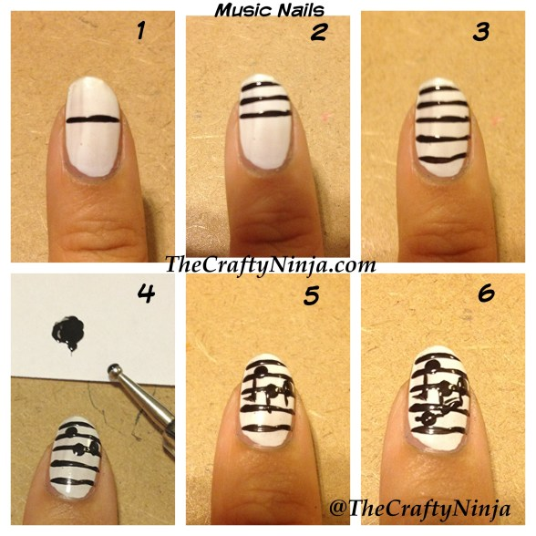 music nails diy