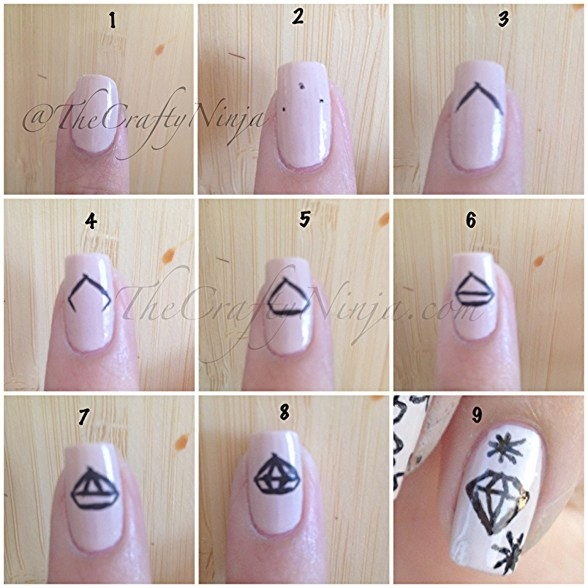 diy diamond nails