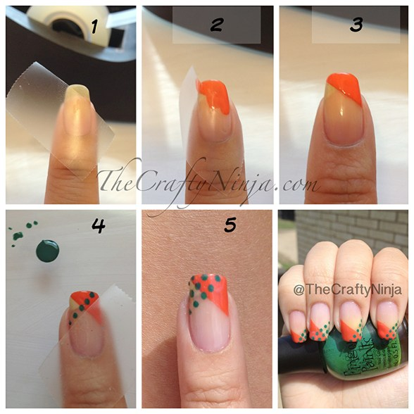 diy dot tape nails