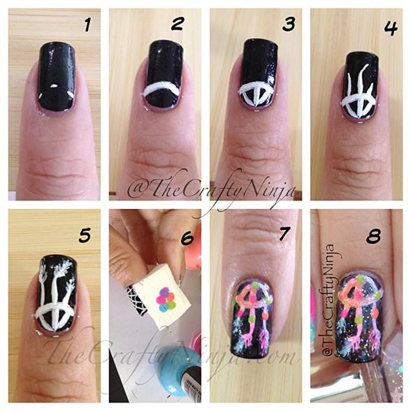 diy dreamcatcher nails