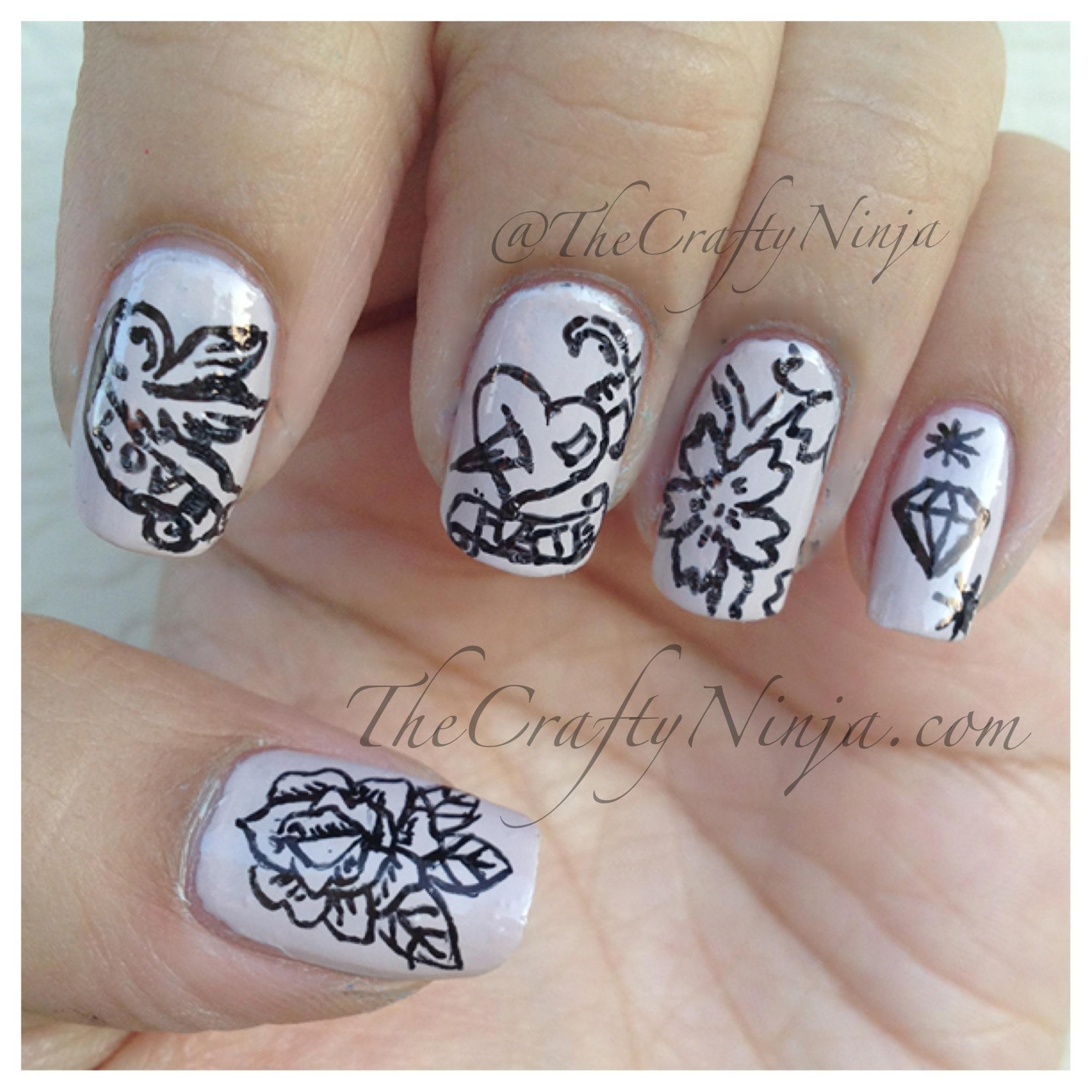 tattoo nail design crafty