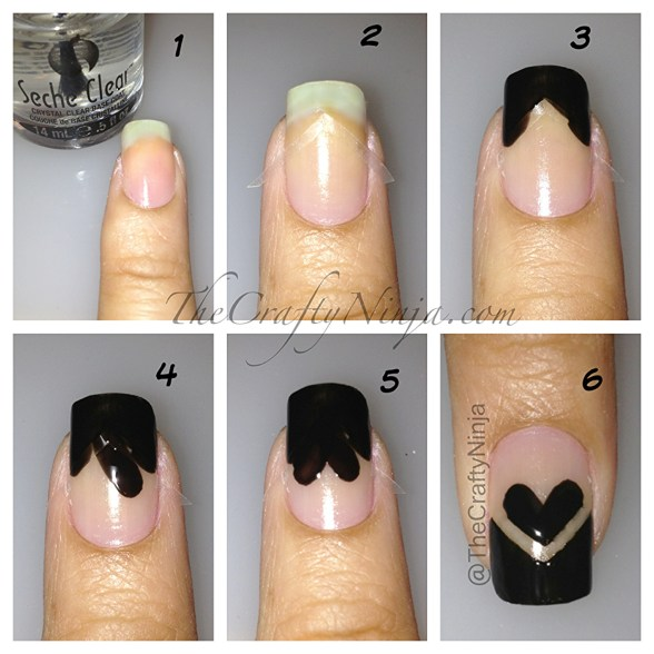 diy heart nails