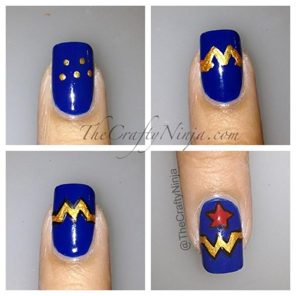 diy wonder women nails