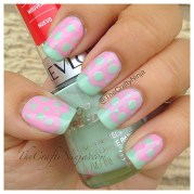 mint pink pastel nails crafty