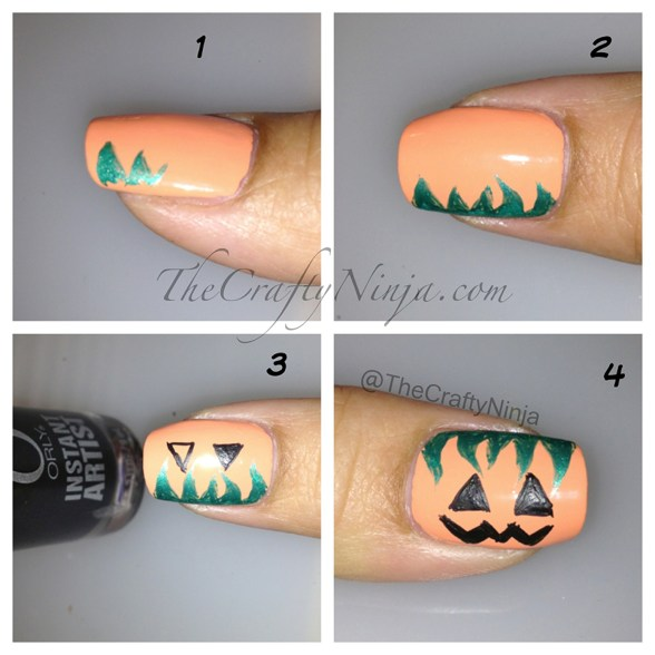 pumpkin nails diy