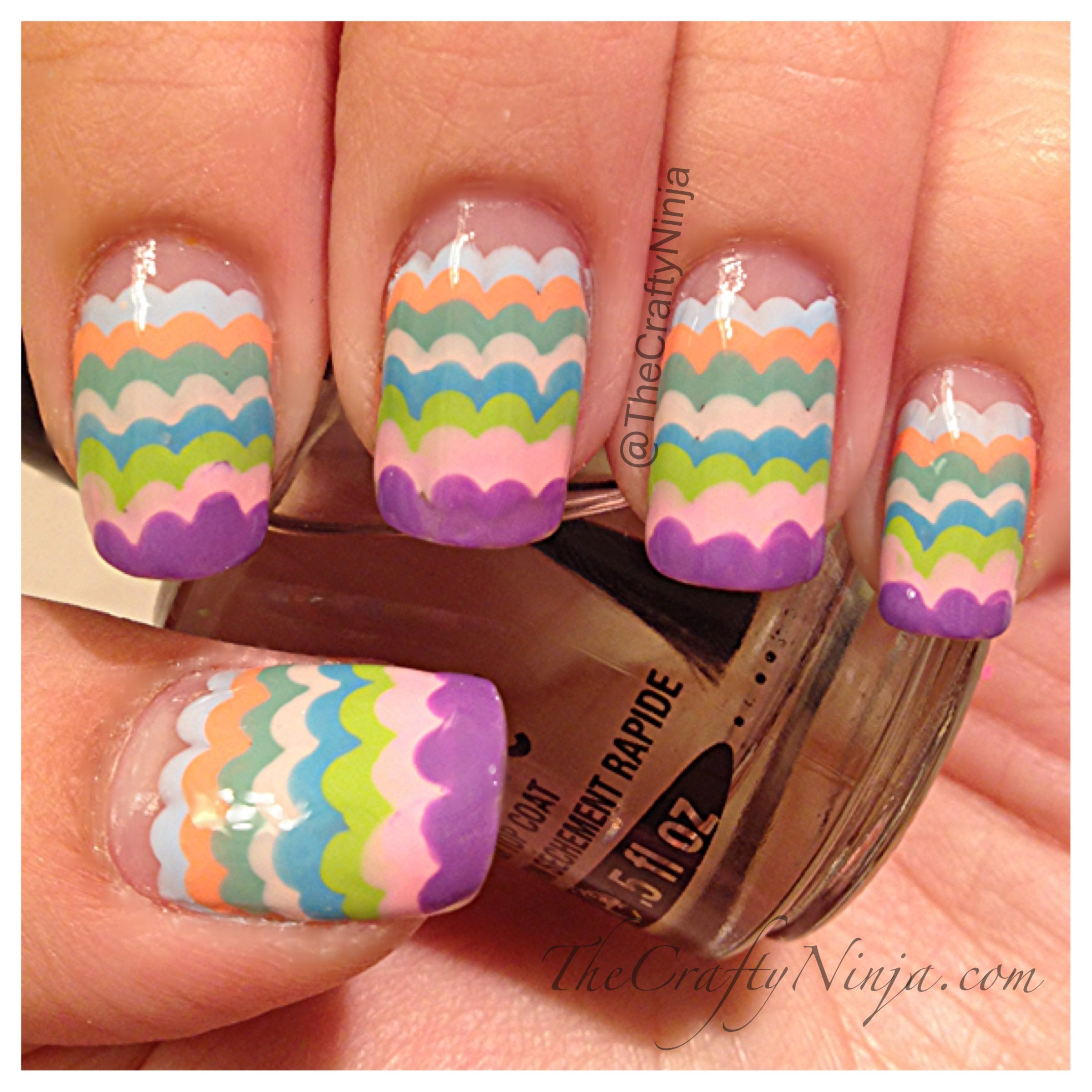 Three Dots Between Thumb And Index Finger: Scallop Pastel Nails