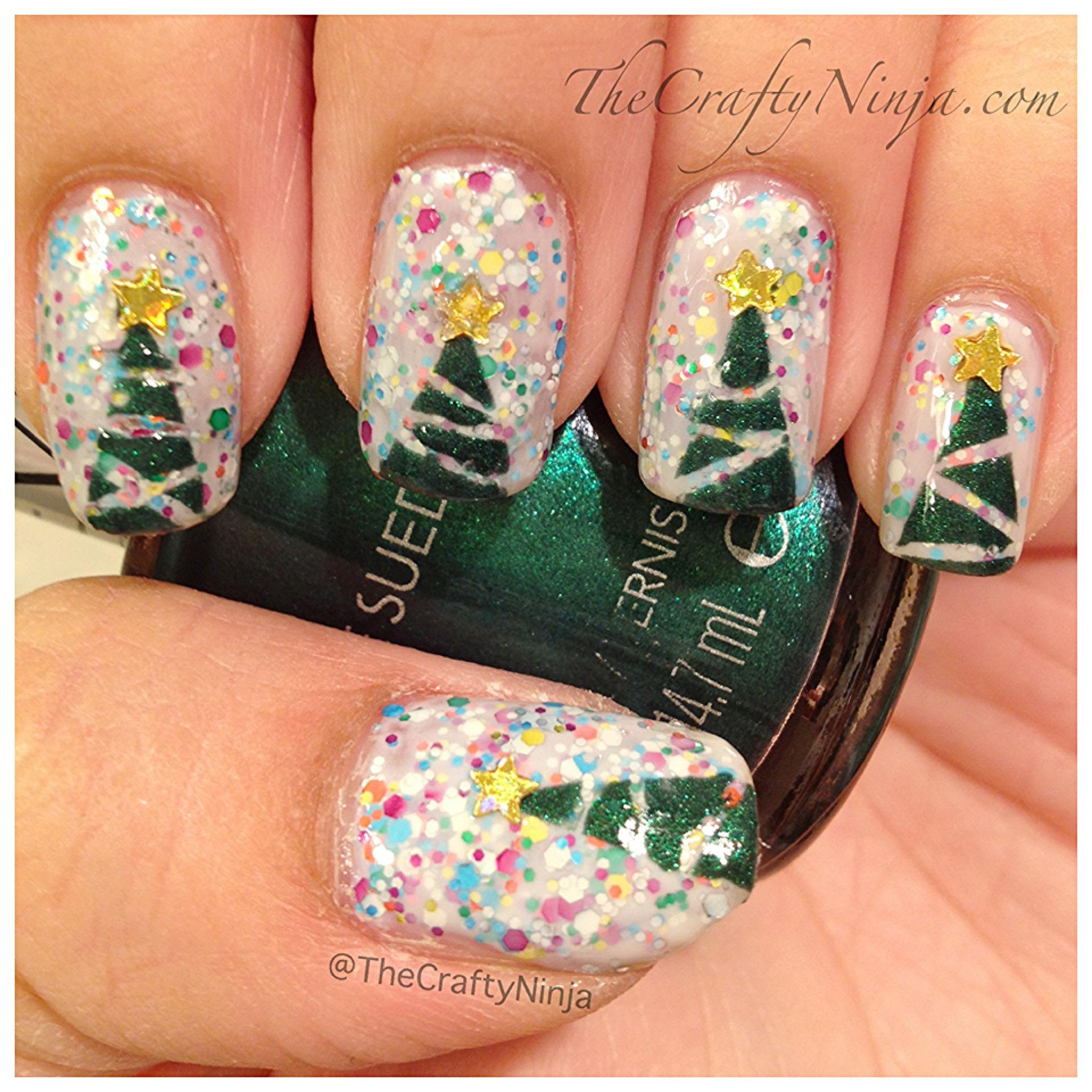 Christmas Tree Nails The Crafty Ninja