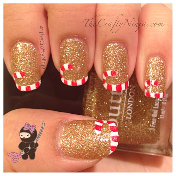 candy cane french tip nails