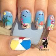 beach nails crafty ninja