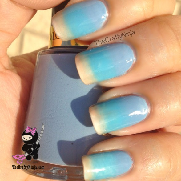 beach ombre nails