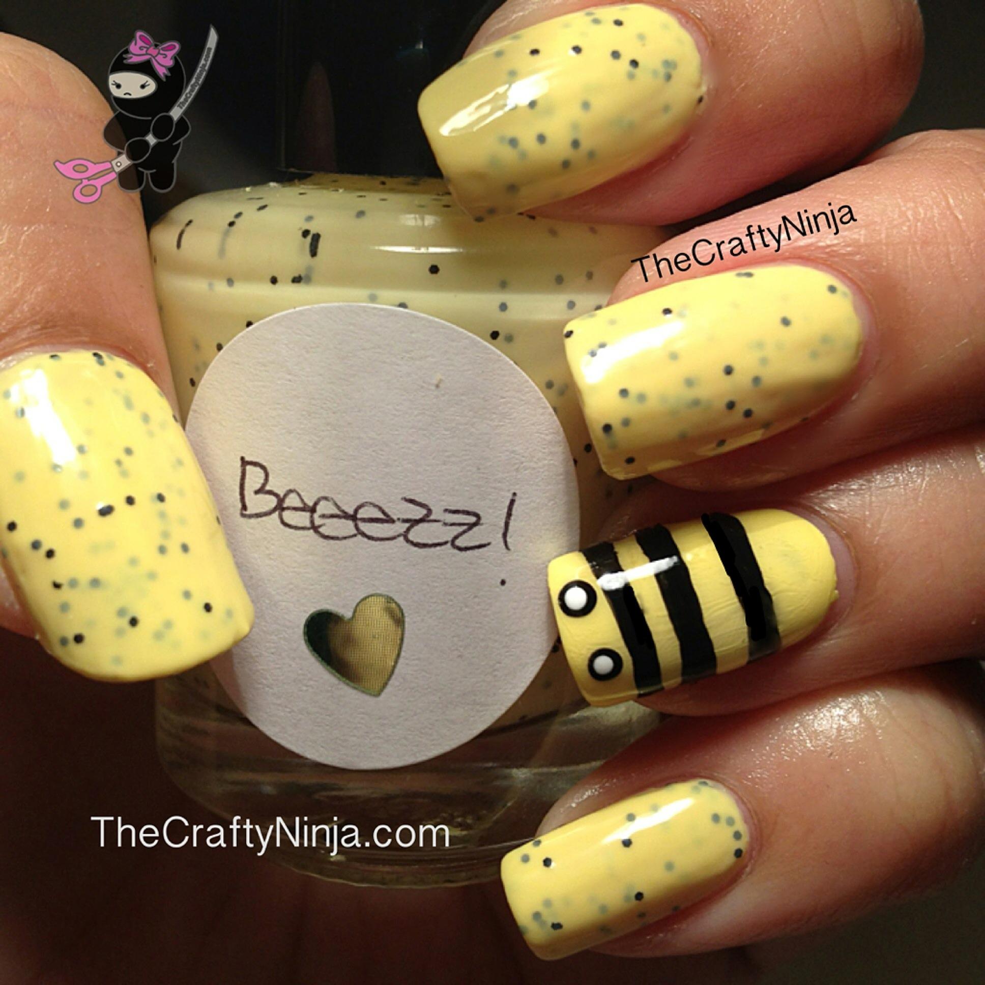 Bumble Bee Nails The Crafty Ninja