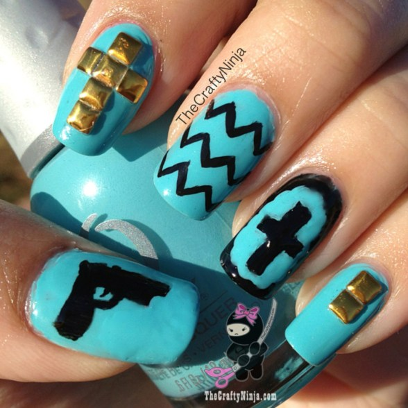 cross stud nails